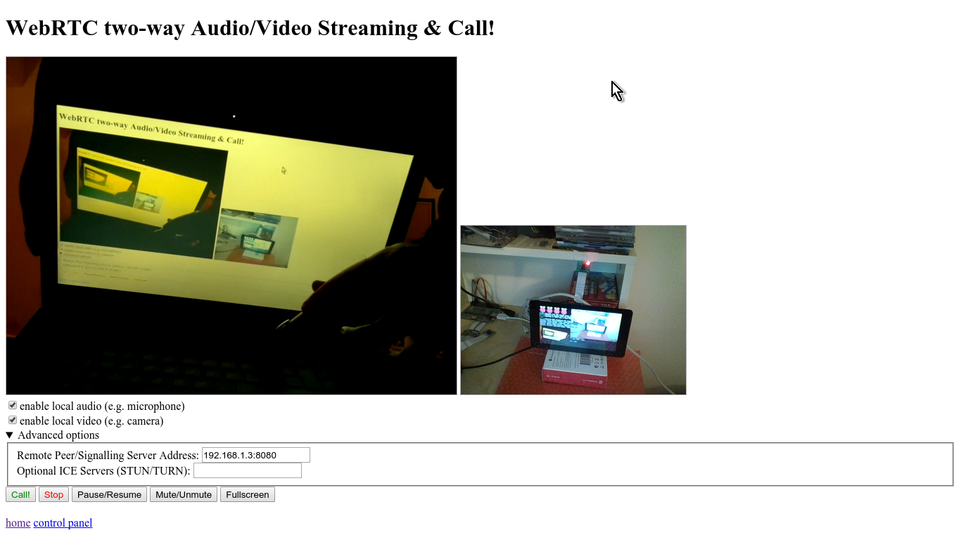 Raspberry pi 2 streaming video on local web server and OSD